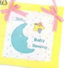 Cute idea for baby bib, blanket, pillow or door hanger