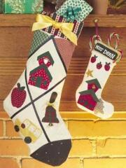 Use your favorite appliques to embellish Christmas Stockings