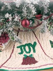 Tree skirts are a wonderful way to use Christmas appliques