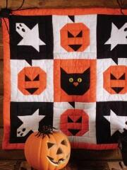 Halloween is a great time to use the ghosts, jack o lanterns, black cats, etc. in this cute little banner