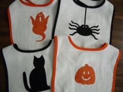 Bib ideas for Halloween sewn by Carol Murphy Sept. 2009