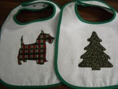 More Bib ideas for Christmas sewn by Carol Murphy Sept. 2009