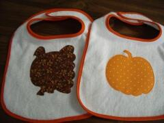 Bib ideas for Thanksgiving sewn by Carol Murphy Sept. 2009