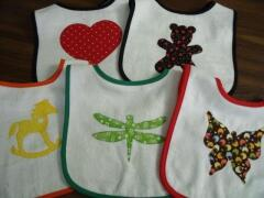 Bib ideas for everday sewn by Carol Murphy Sept. 2009