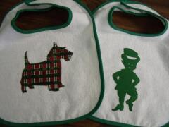 Bib ideas for St. Pat's sewn by Carol Murphy Sept. 2009