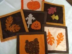 Fall hot pads/potholder ideas sewn by Carol Murphy, Sept.,2009