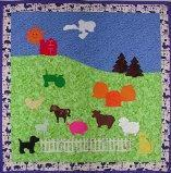Anna Whorl created this adorable farm quilt using almost all of the farm animals, etc. It is the first photo submitted for 2012. Great job Anna!