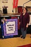"Great ""Relay for LIFE"" banner; by Cindy Kostreba - 05-01-12. I don't know how I would have accomplished this without your services!!! Thank You!!!! Cindy"