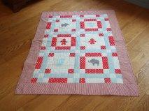 2014, Nov. - Jessica H. made a vintage circus themed quilt.
