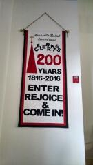 2016 - Feb., Brecksville United Church of Christ had custom letters made for a banner celebrating their 200 year anniversary.  Congratulations BUCC.