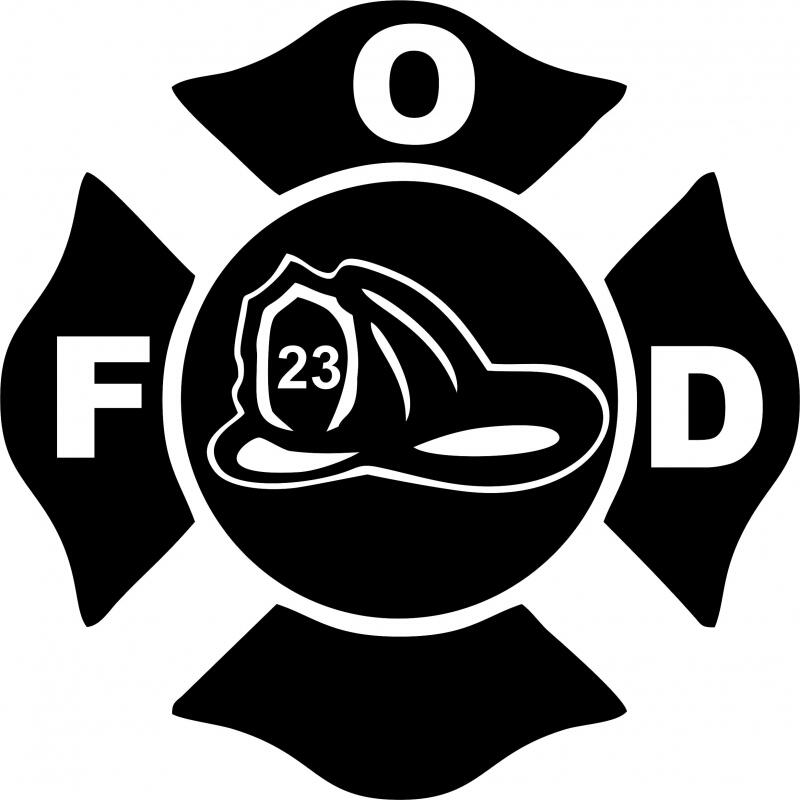 fireman crest symbol laser cut appliques