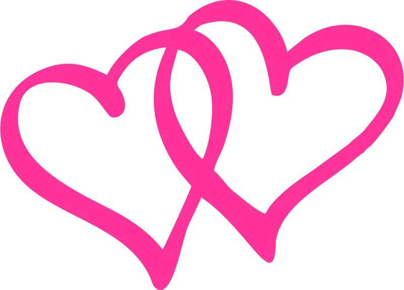 Double Heart Silhouett...
