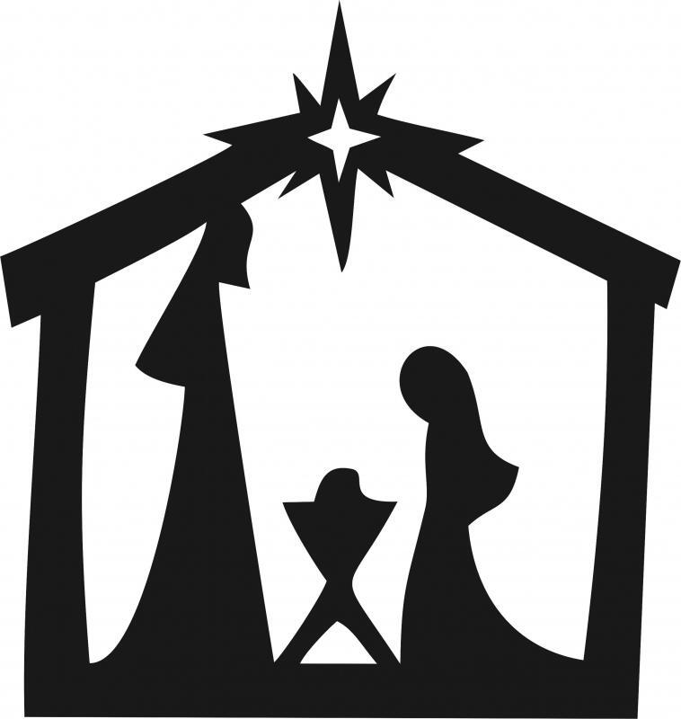 Nativity Scene Silhouette Laser Cut