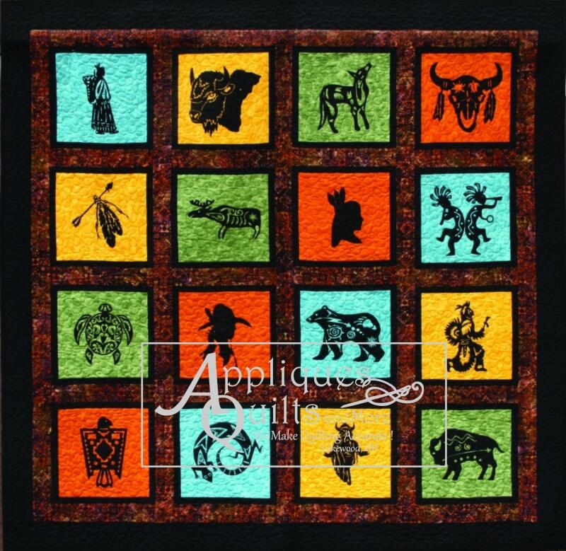 kit - native american - silhouettes only - (16) - laser cut - Native American Pictures Color