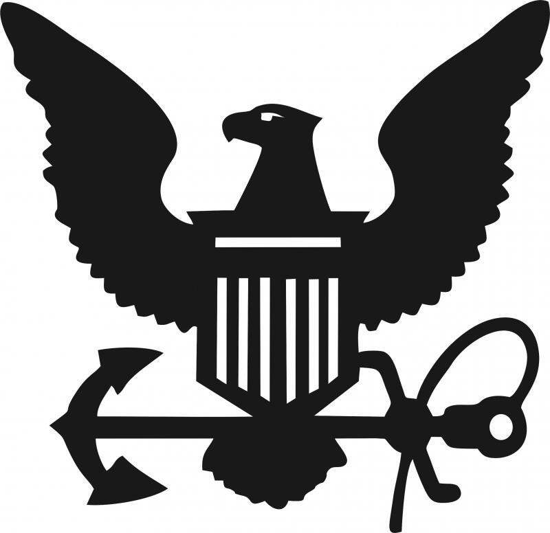 Navy Symbol Silhouette Die Cut Appliques