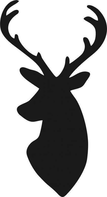 Deer Head Silhouette Laser Cut Appliques