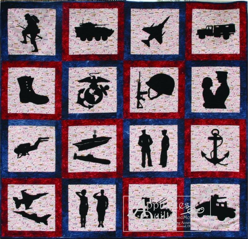 Kit Military Quilt Silhouettes Only All 21