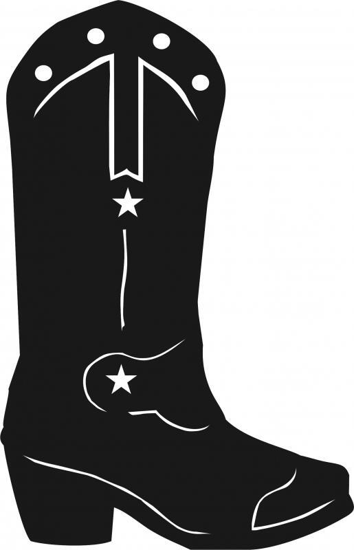 Cowboy Boot Silhouettes Laser Cut Appliques