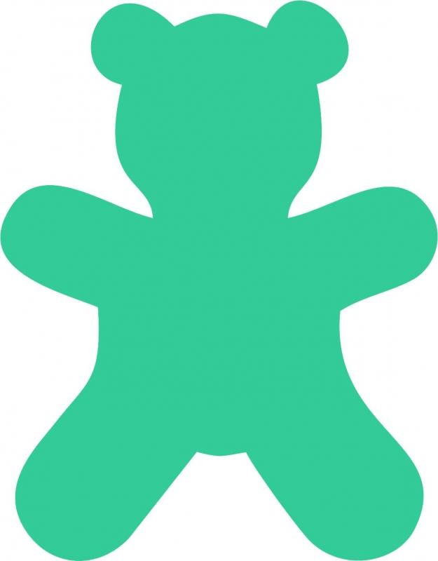 Teddy bear applique birth stat blanket u little elska