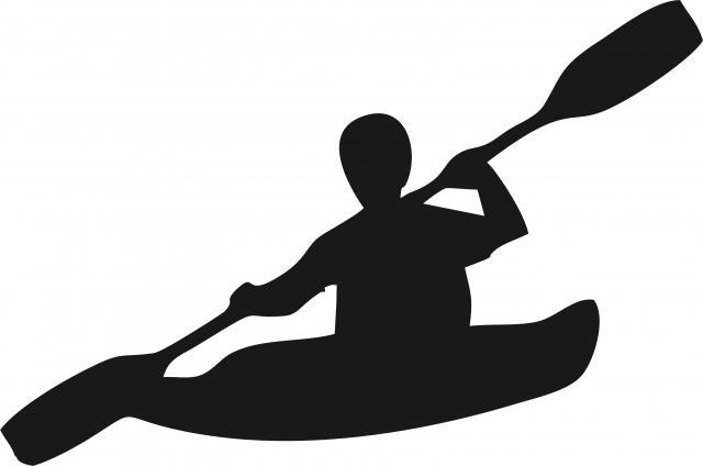 kayaker silhouette laser cut appliques
