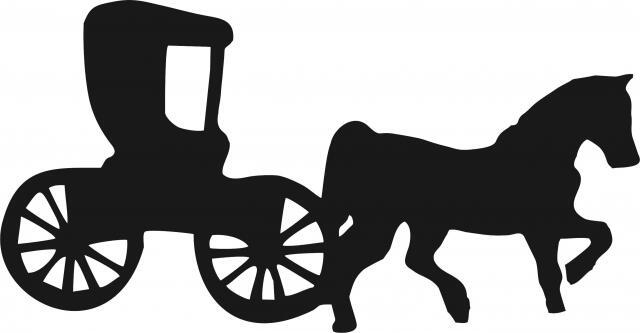 Amish Buggy W Horse Silhouette Laser Cut Appliques