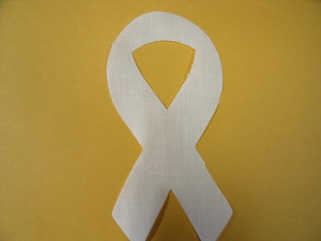 Bone Cancer Awareness Ribbon Die Cut Appliques