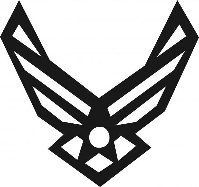 Air Force Symbol Silhouette Laser Cut Appliques