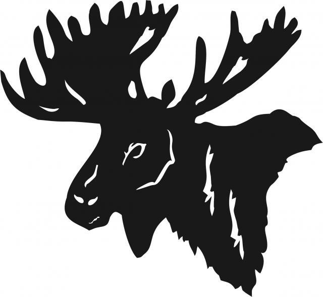 Moose Head Laser Cut Appliques