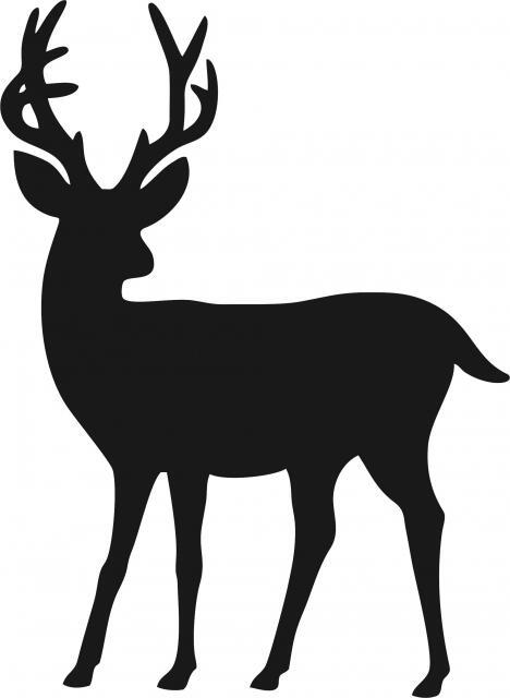 Deer Silhouette Laser Cut Appliques