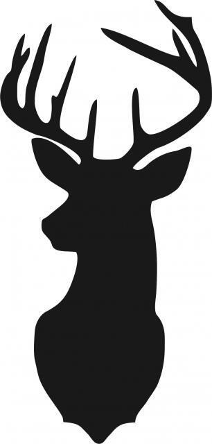 Deer Head With Large Antlers Laser Cut Appliques