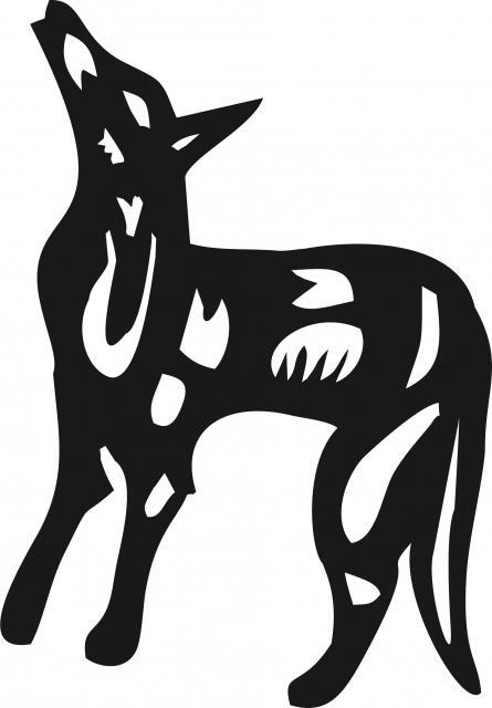 Coyote Symbol Silhouette Laser Cut Appliques