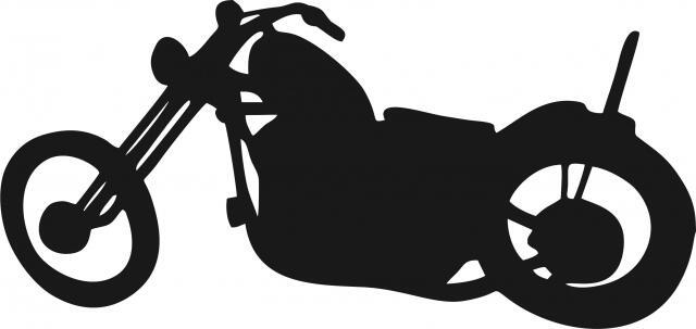 Motorcycle Chopper Silhouette Laser Cut Appliques